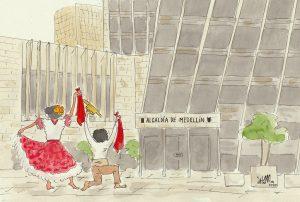 #EmergenciaCultural en Medellin. Caricatura por Átomo